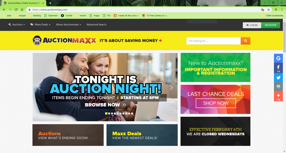 auctionmaxx is based in Toronto, ON