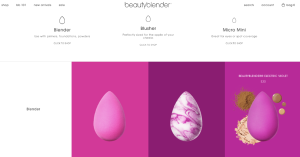 Beautyblender product page