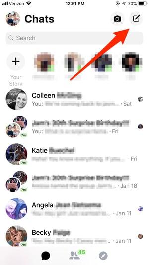 Start New Facebook Message
