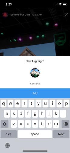 create a highlight on instagram