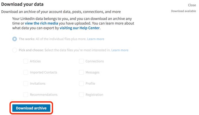 download-linkedin-data