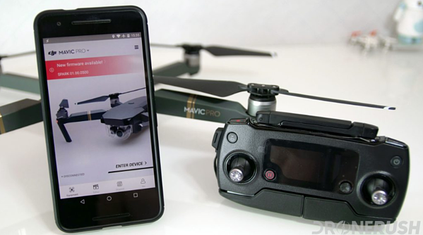 drone app has great ux design