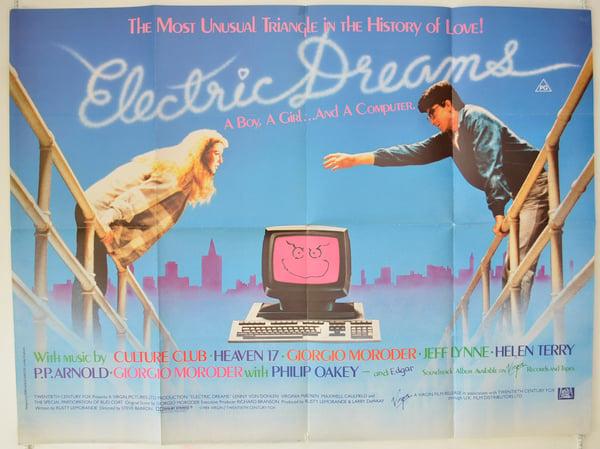 electric dreams movie poster