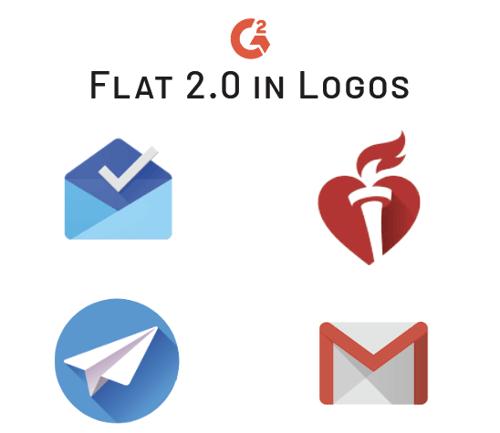 flat 2.0 trend in logos