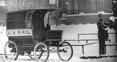 old fashioned postal system carriage