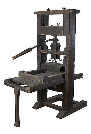 first printing press ever invented