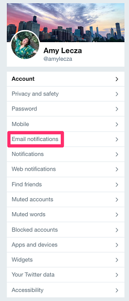 how to stop twitter emails email notifications