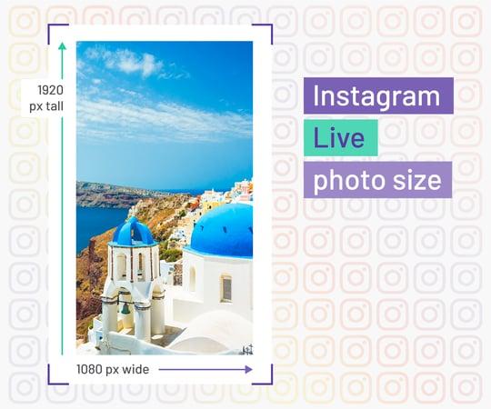 instagram live size