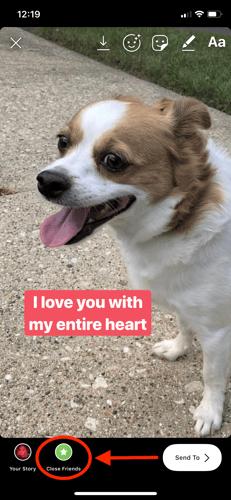 instagram story close friends option