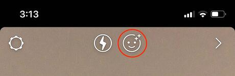 instagram story filter button
