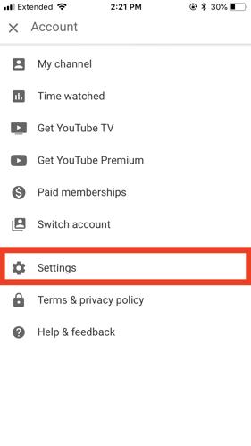 youtube dark mode iphone settings