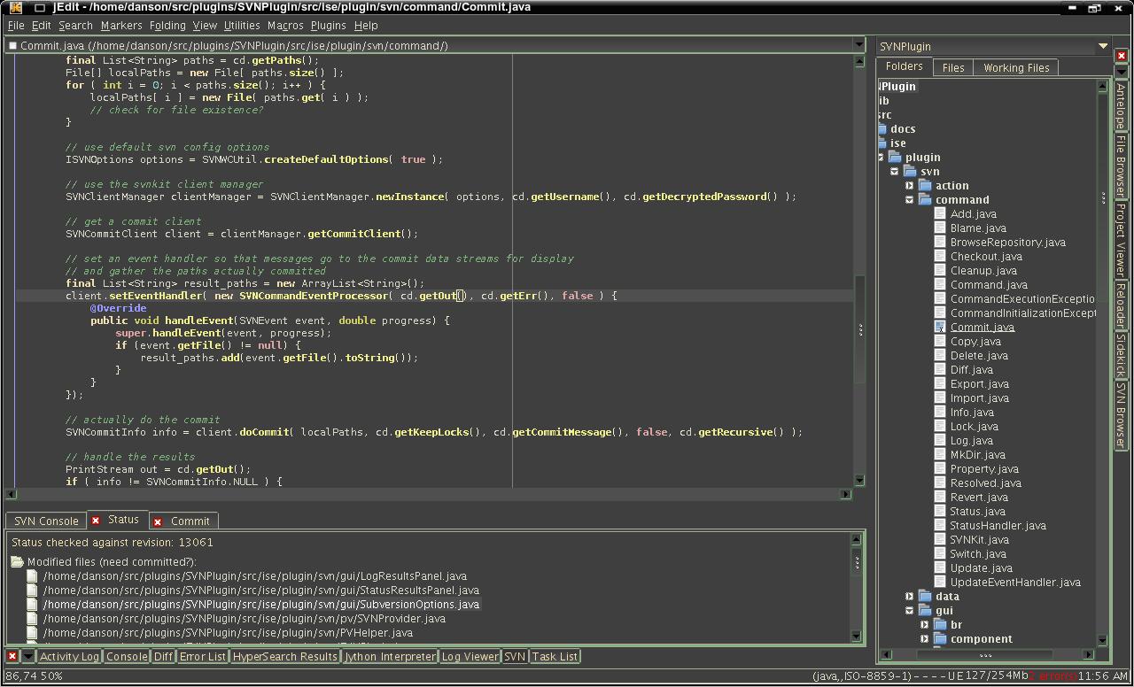 jEdit free text editor