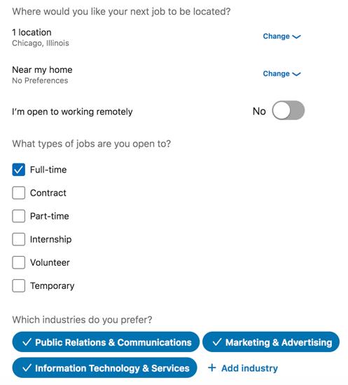 linkedin-career-interests