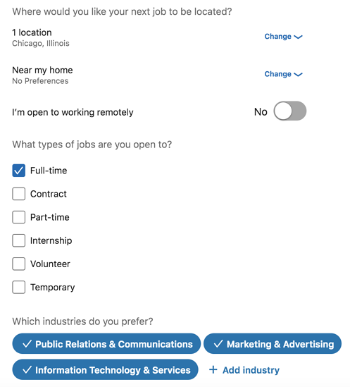 linkedin-career-interests