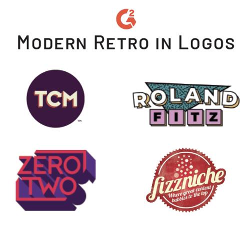 modern retro trend in logos