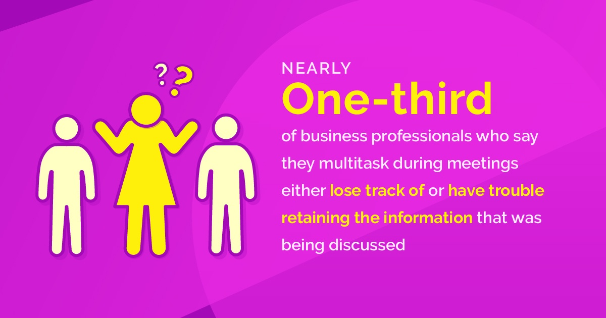 Multitasking during meetings hurts attention and retention