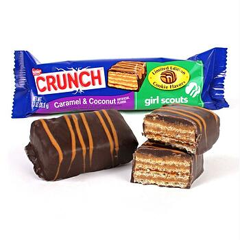 nestle crunch caramel coconut girl scouts candy bar