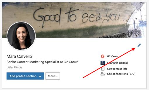 Edit LinkedIn Profile