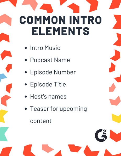 parts of a podcast intro