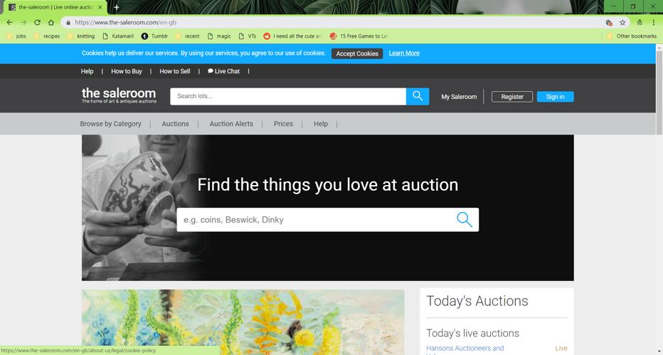 the saleroom hosts live auctions around the world