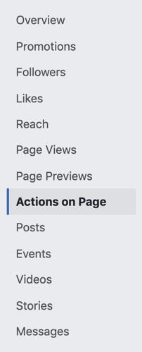options inside facebook insights
