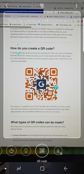 android bixby scan qr code