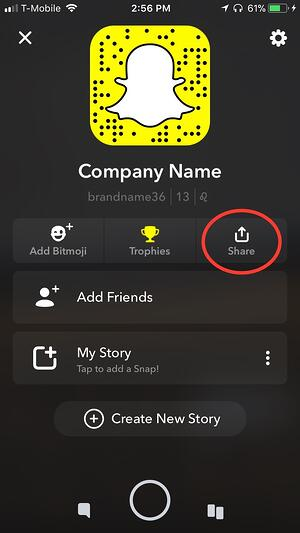 share your Snapcode