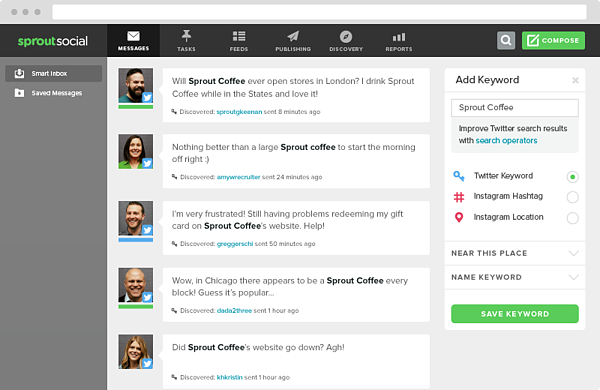 Sprout social uses Twitter API