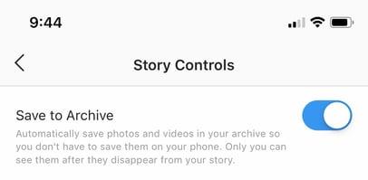 stop archiving instagram stories