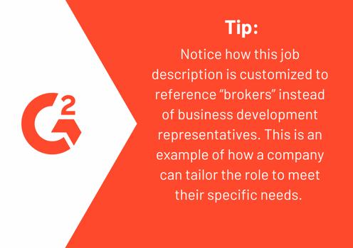 business development manager job description tip