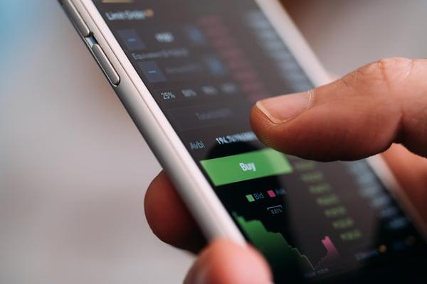Shotstash trading cryptocurrency on mobile phone