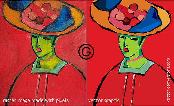 Raster vs vector image quality comparison