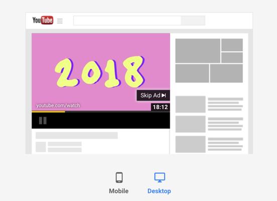 youtube ad desktop view