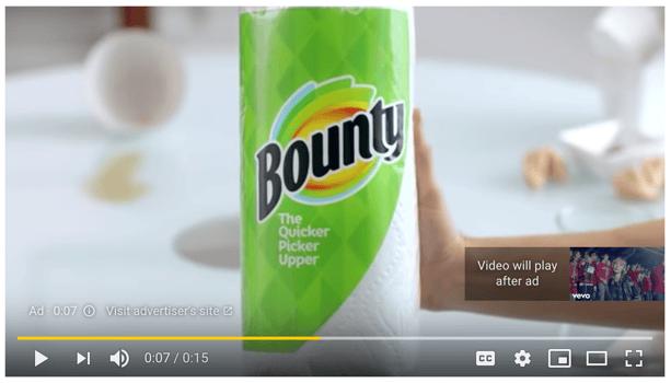 youtube in stream ad