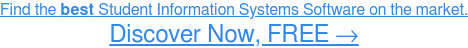 Find the best Student Information Systems Software on the market. Discover Now,  FREE →