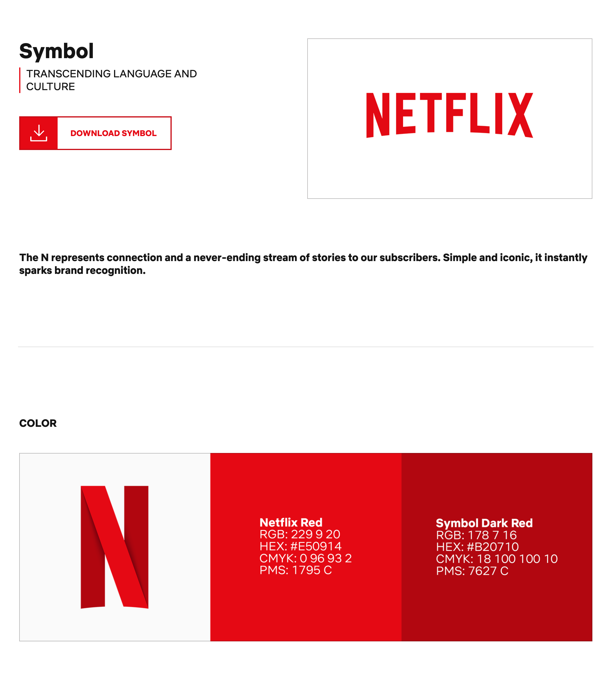 Netflix Style Guide Example