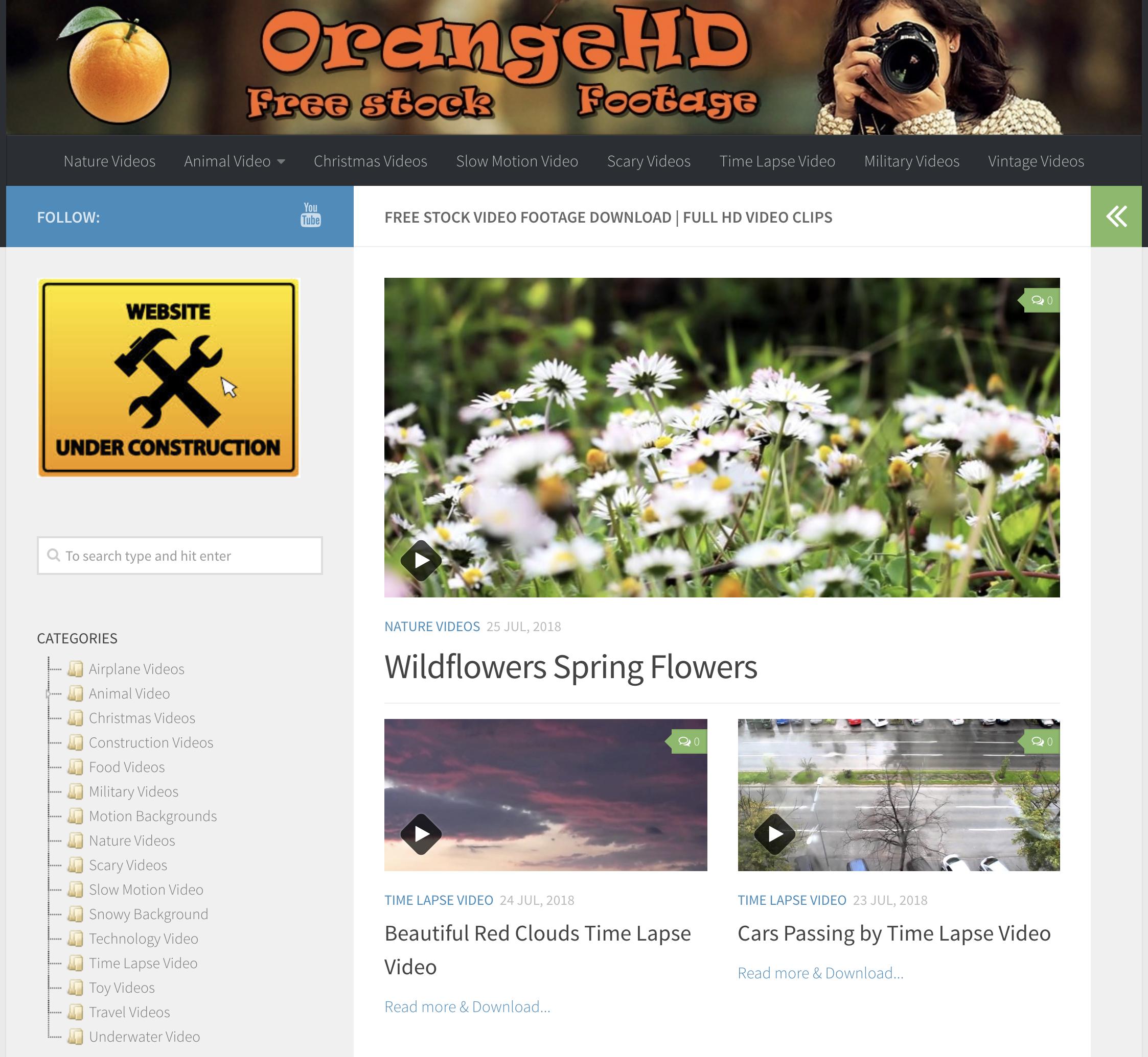 orangehd-free-stock-footage