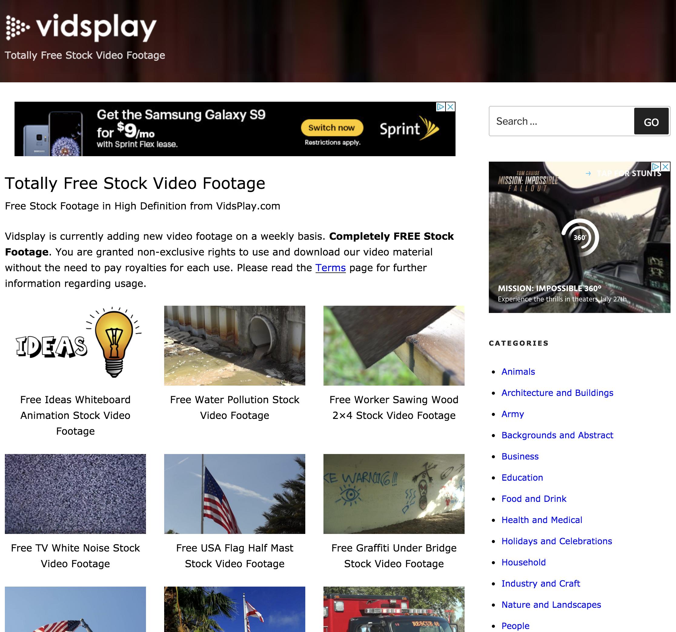 vidsplay-video-footage