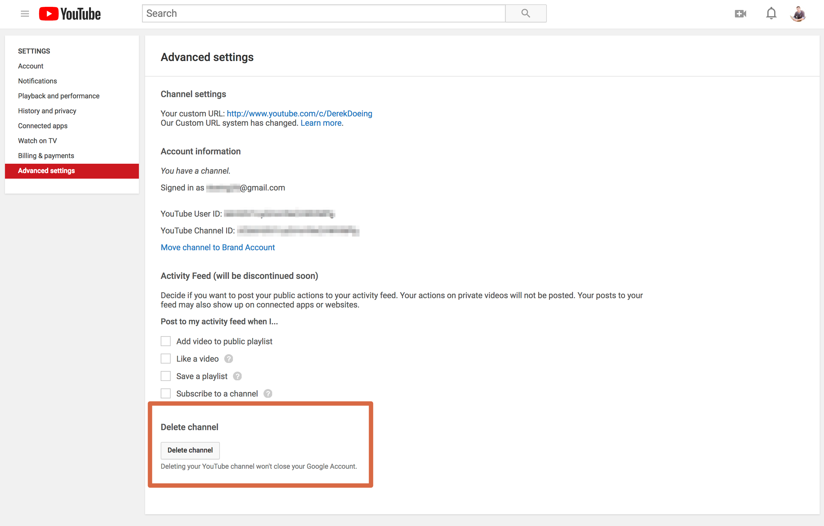 youtube-delete-channel