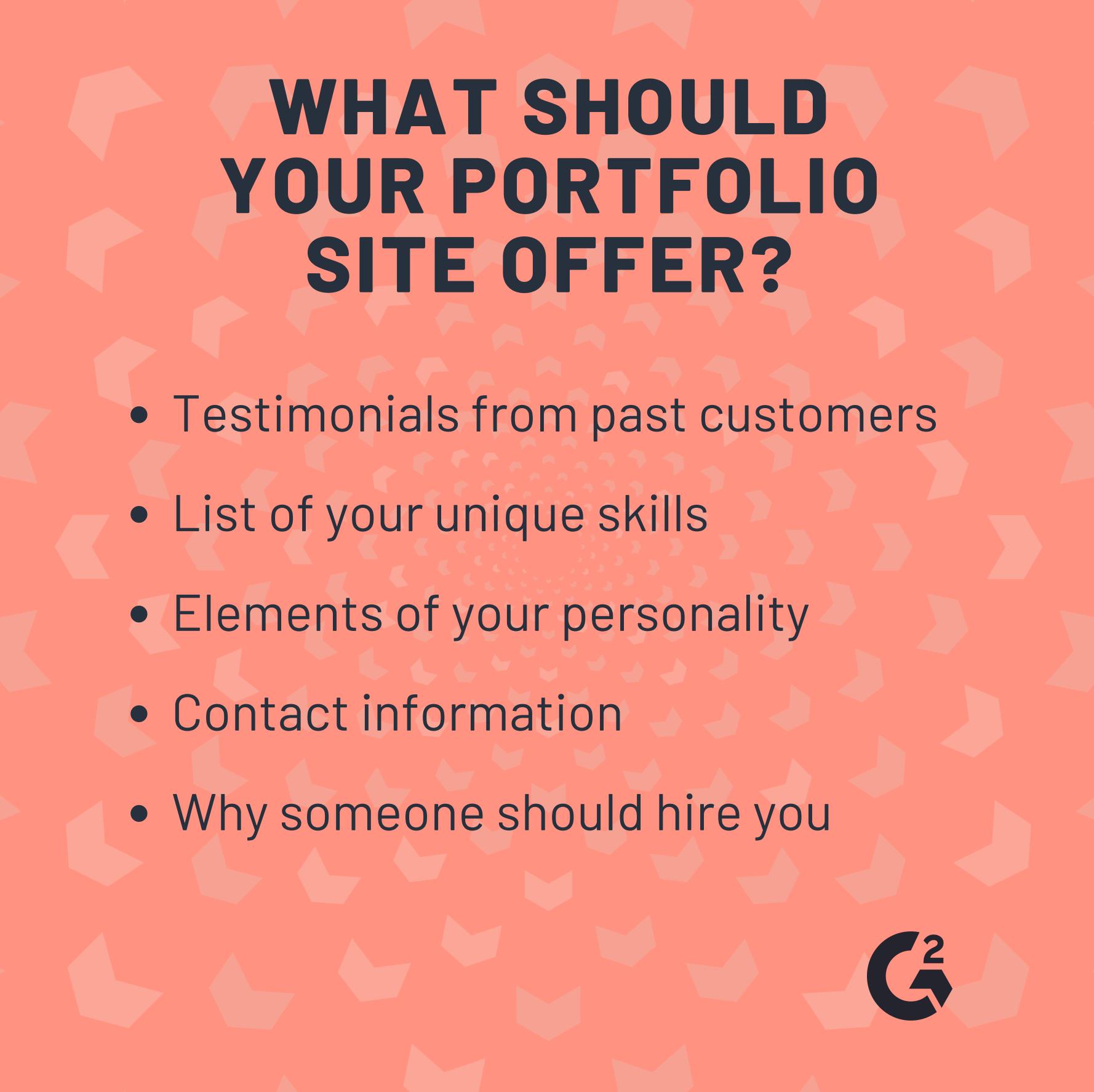 Web Developer portfolio site