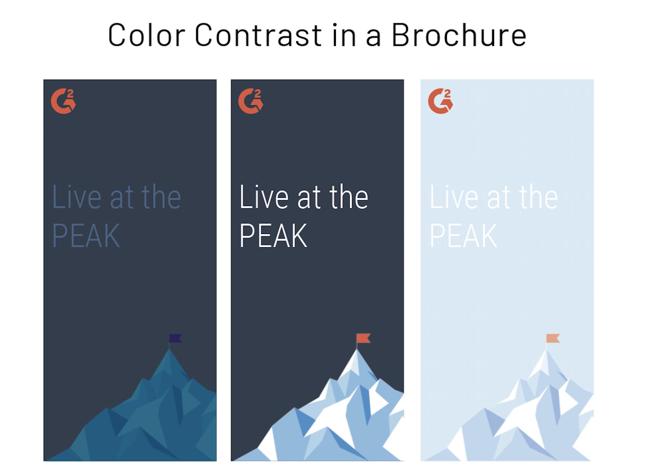 color contrast in brochure design