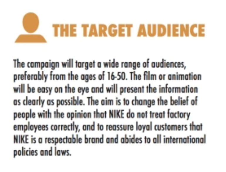 creative brief target auidence