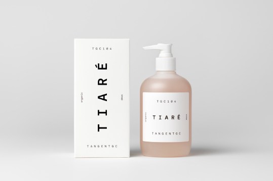 minimal package design text