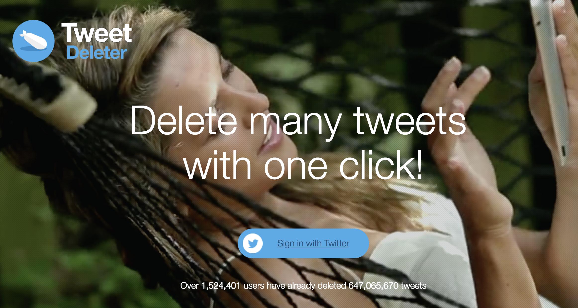 Tweet Deleter tool